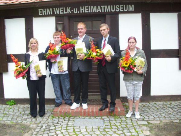 Ausgezeichnet (v.l.): Lisa Wulkow, Chris Jelinek, Andreas Voigt, Robin Villain und Victoria Hofmann