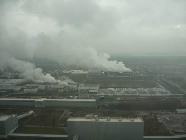 Ein Großteil der Anlage auf dem sich das Kraftwerk befindet