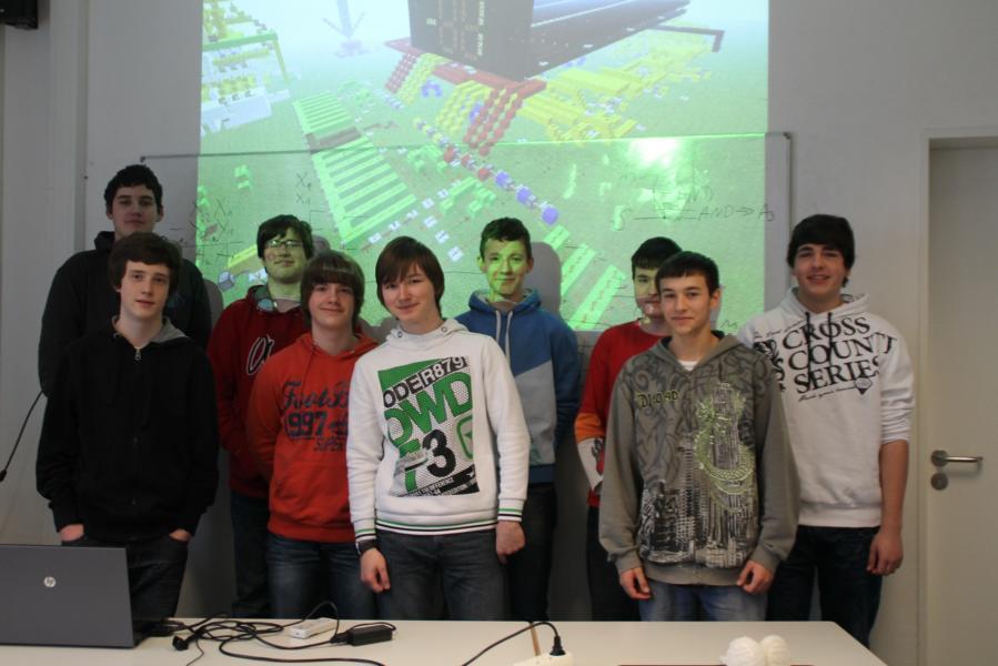 Die Mitglieder der Gruppe Computergrafik