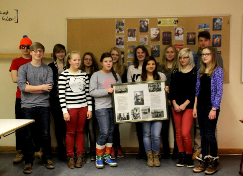 """Die Projektgruppe """"100 Jahre Einstein-Gymnasium Angermünde"""""""