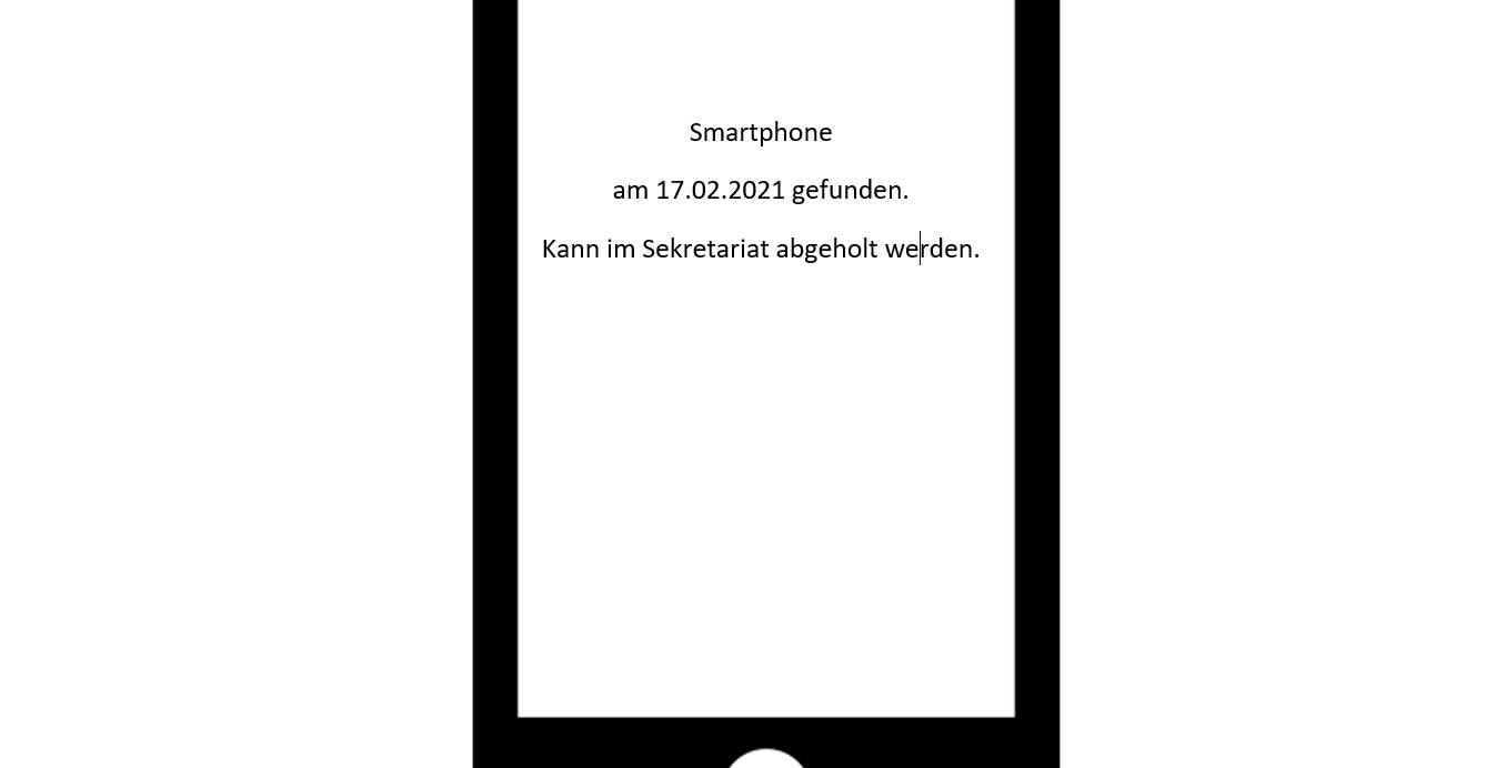 Wer vermisst seit dem 17.02.21 sein Smartphone?